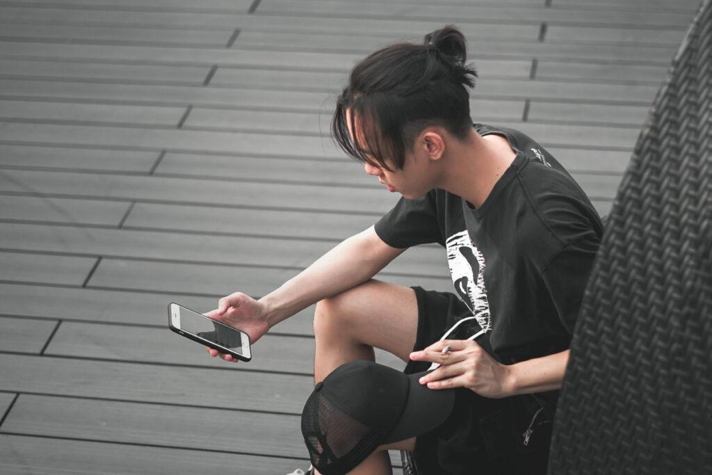 smoking-weed-while-using-phone